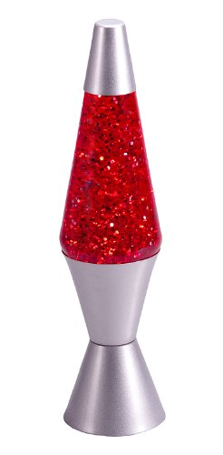 Retro Lava Lamp Red Glitter