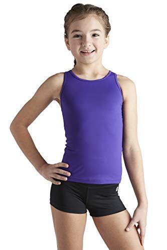 Liakada Girls Basic Tank Top - Dance, Gym, Yoga, Cheer! Purple (Activewear Youth Girls)