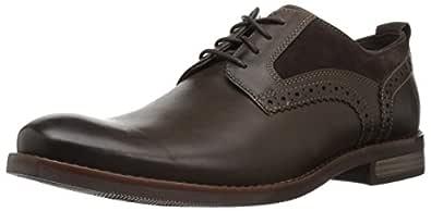 ROCKPORT Men's Wynstin Plain Toe Oxford, Dark Bitter Chocolate, 8 M US