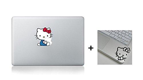 Hello Kitty Hugging + Wrist Sticker Macbook Decal Stickers- Fit 13 15 17 BUY 2 Get 1 Free Sticker (Hello Kitty, Hello Kitty (Peter Pan Macbook Decal compare prices)