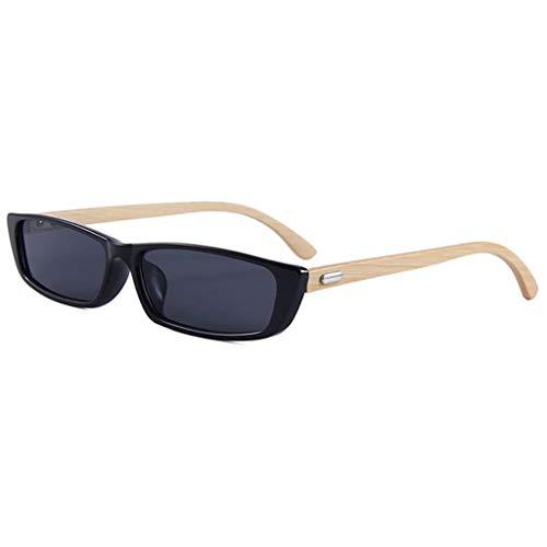 bambú clásico Marco Negro cuadradas Retro Gafas Hombres sol Negro de protección de de de UV400 Color los bambú Hombres Gafas Gafas Tw18Yw
