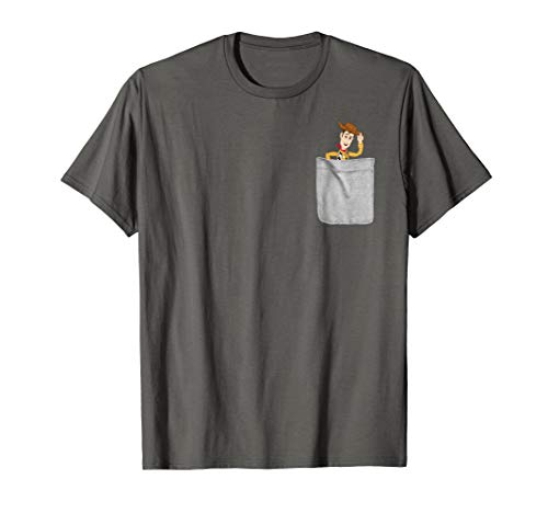 Disney Pixar Toy Story Woody Faux Pocket Graphic T-Shirt ()