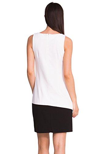 Vest Blanc Blanco Weiß Kleid sally Desigual Damen qSfOEHWPT