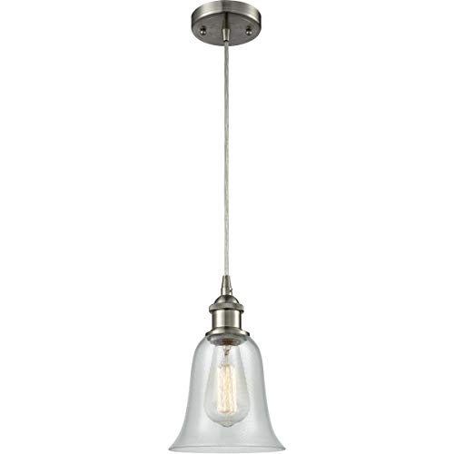 Mini Pendants 1 Light Fixtures with Brushed Satin Nickel Finish Cast Brass Glass Material Medium 6