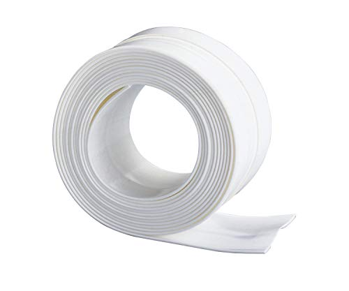 Wenko 5652021 Cinta Tapa Juntas Extra-Ancha Impermeable, Blanco, 350x5x3 cm