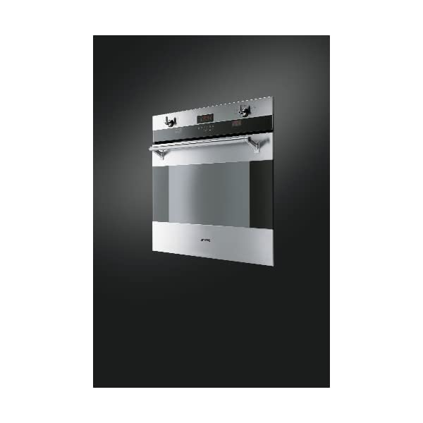 """Smeg SOU330X 30"""" Classic Series Single Electric Wall Oven with 4.34 cu. ft Convection Oven Self-Clean Multiple Cooking Functions Sabbath Mode Telescopic Racks and Meat Probe in Stainless 4"""