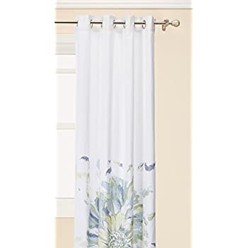 Madison Park Blue Curtains For Living Room Casual Bedroom Floral Solange Grommet