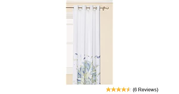 Madison Park Solange Floral Watercolor Window Curtain Blue 84 Panel MP40-1051
