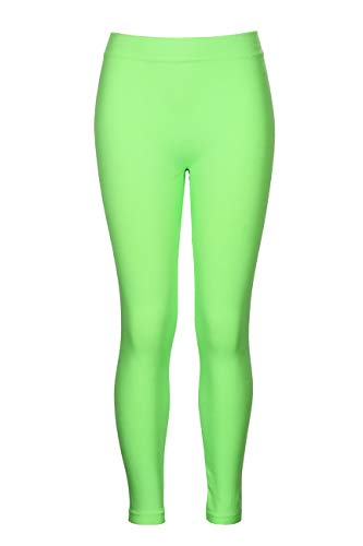 Crush Girls Seamless Solid Color Leggings Pants Size 4X - 6X Lime -