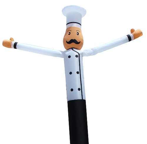 LookOurWay Chef Air Dancers Inflatable Tube Man Attachment, 16-Feet (No Blower) by LookOurWay