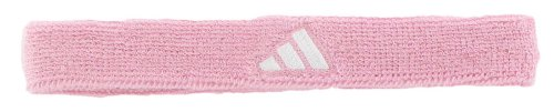 adidas Interval Slim Headband, Gala Pink/White, One Size Fits All (Adidas Headband Athletic)