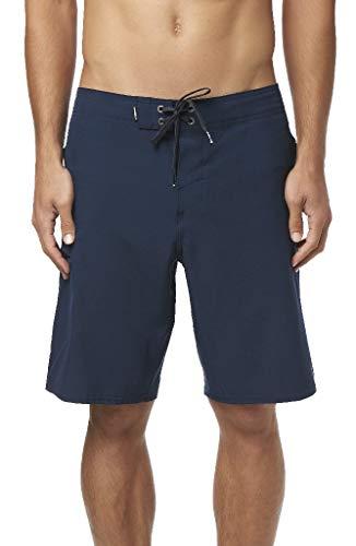 O'Neill Men's Water Resistant Hyperfreak Stretch Swim Boardshorts, 20 Inch Outseam (Navy/Lifeguard, 31)