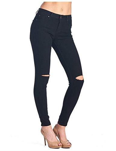 Mujeres De Jeans Distressed Hombres Pantalones Schwarz Señoras Washed Adelina Hole Boyfriend Verano Dchen Ropa Denim Los Cintura Alta Primavera Stretch Ripped 5Xw4nq6W