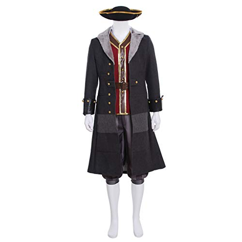 Mens Game Role Play Costume Halloween Cosplay Full Set Suit Outfit Uniform -