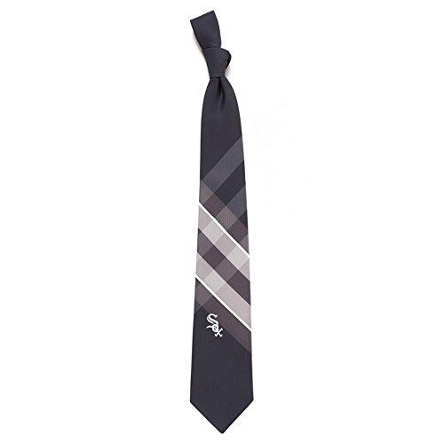 Mlb Necktie - Chicago White Sox Grid Poly Necktie