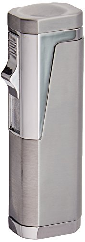 Prestige Import Group Typhoon Triple Flame Cigar Lighter with Cigar Punch Cutter
