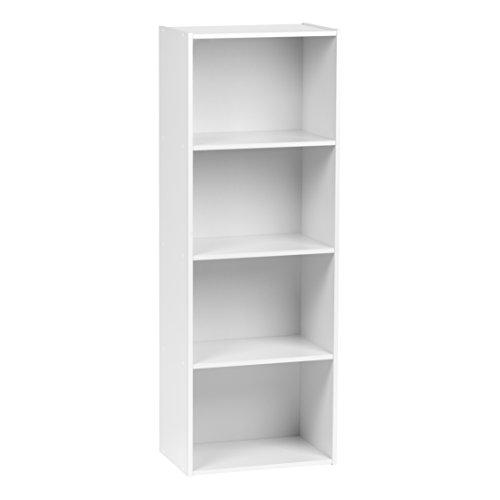 Cheap  IRIS 4-Tier Wood Storage Shelf, White