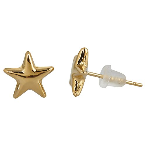 14K Yellow Gold Polished Star Stud Earring (14k Yellow Gold Studs Star)