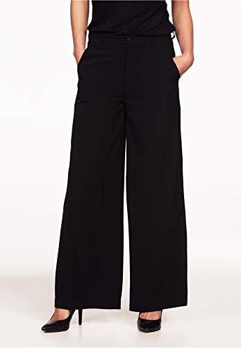 Ellos Women's Plus Size Woven Wide Leg Pants - Black, 16