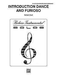 - Alfred Introduction, Dance and Furioso for Alto Sax By Couf Book
