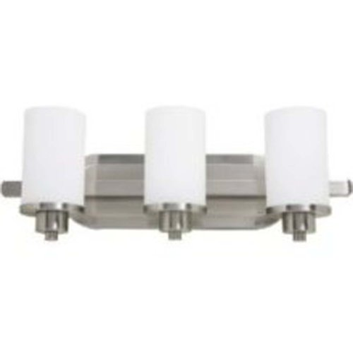 (Artcraft Lighting Parkdale 3-Light Bathroom Vanity Light, Polished Nickel)