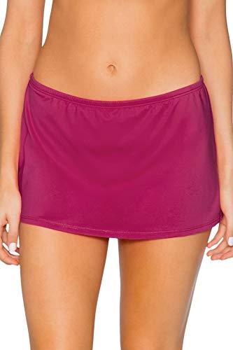 - Sunsets Women's Kokomo Swim Skirt Mid Rise Bikini Bottom Swimsuit, Pink Poppy, Small
