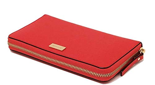 Kate Spade Laurel Way Safiano Leather Zip Around Hot Chilli Wallet