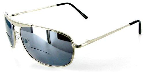 "Ritzy ""MACH 5"" Men's Aviator-style designer Bifocal Sungl..."