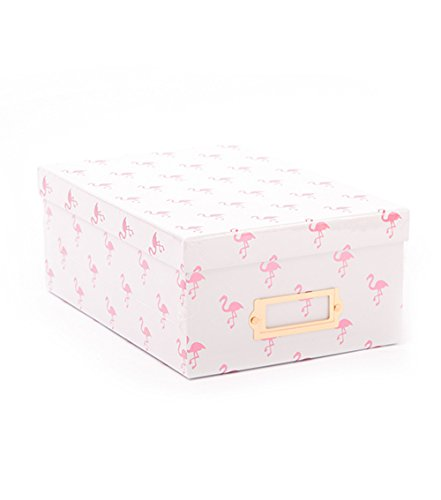 American Crafts Photo Boxes Pink Flamingos Foil Die Cuts with a View