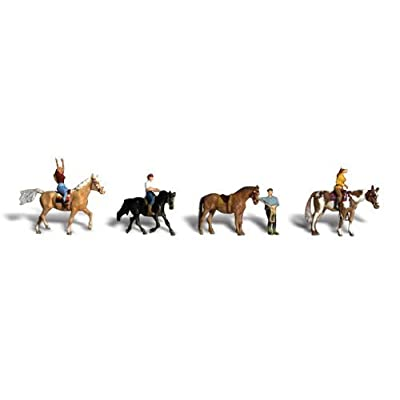 Horseback Riders HO Scale Woodland Scenics: Toys & Games