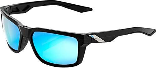 100%ユニセックスアダルトスピードラボ (61030-019-75) デイズ - マットブラック - ハイパーブルーマルチレイヤーミラーレンズ フリーサイズ