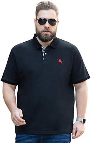 Golf Polo Shirts for Men - Mens Polo Shirt Short Sleeve Plus Size ...