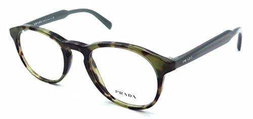 Prada Rx Eyeglasses Frames Vpr 19S Lab-1o1 48x20 Tortoise Green Made in Italy -