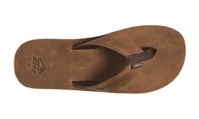 5297332ddba 80%OFF Reef - Reef Leather Smoothy Mens Flip Flop - 8 - Bronze Brown ...