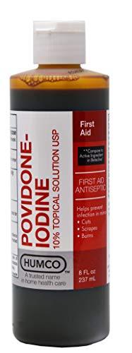 HUMCO 232598001 Povidone-Iodine 10 Percent 8 oz, Shape