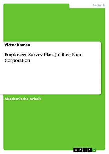 Employees Survey Plan. Jollibee Food Corporation (German Edition)