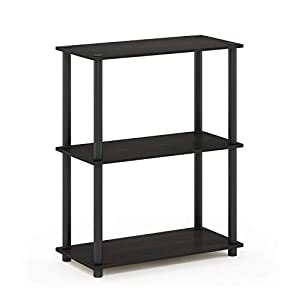Furinno 10024EX/BK Turn-N-Tube 3-Tier Display Rack, Single, Espresso/Black