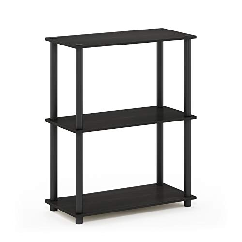 (Furinno 10024EX/BK Turn-N-Tube 3-Tier Display Rack, Single, Espresso/Black)