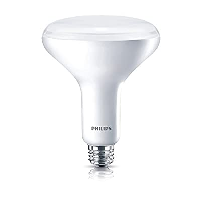 Philips 457010 9w BR40 LED Dimmable Flood Soft White Bulb - 65w equiv.