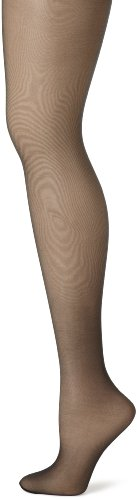Hanes Women's Control Top Sheer Toe Silk Reflections Panty Hose, Jet, - Sheer Nylon Tights