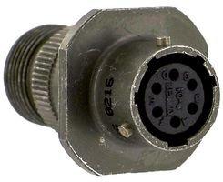 ITT CANNON MS3121E10-6S CIRCULAR CONNECTOR PLUG, SIZE 10, 6 POSITION, CABLE