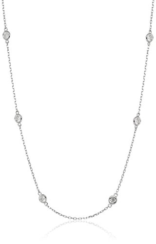 14k White Gold Diamond By The Yard Floating Strand Necklace (1 1/2cttw, K-L Color, I1-I2 Clarity), 18