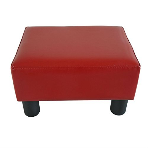 Modern Faux Leather Ottoman Footrest Stool Foot Rest Small Chair Seat Sofa Couch (wine red) by Unknown (Image #2)