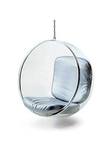 Fine Mod FMI1122-SILVER Bubble Hanging Chair, Silver