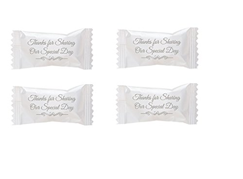 Party Sweets By Hospitality Mints Wedding Buttermints, 7-Ounce Bags (Pack of 6) -