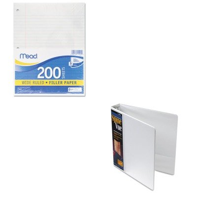 KITCRD16703MEA15200 - Value Kit - Cardinal SpineVue Locking Round Ring Binder (CRD16703) and Mead Filler Paper (MEA15200)