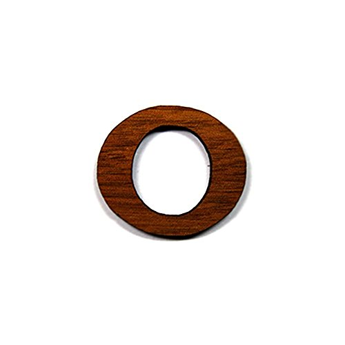 (Omicron Greek Letter Made of Wood for Paddle Mascot Board (1 Inch))
