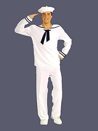 Adulto Marinero Hombre Azul Marino Capitán YMCA Disfraz Traje GI ...