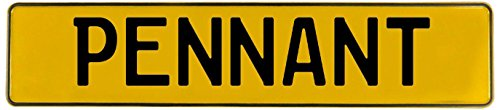 Vintage Parts 740494 Wall Art (Pennant Yellow Stamped Aluminum Street Sign Mancave)]()