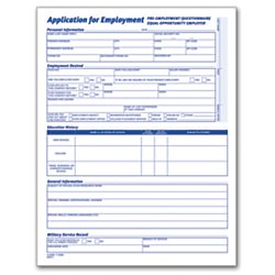 Adams(R) Application for Employment, 8 1/2in. x 11in, Pack of 25 by Adams